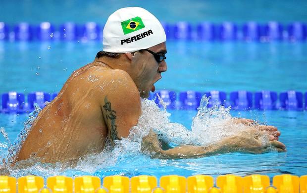 Thiago Pereira na prova de natação em Londres (Foto: Satiro Sodré / Agif)