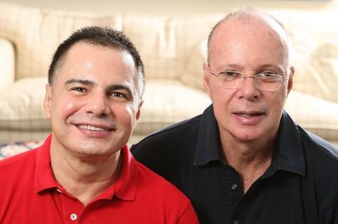 Ricardo Linhares e Gilberto Braga (Foto: Marcio Nunes)