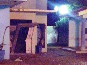 Caixa eletrônico de Rancho Alegre do Oeste ficou totalmente destruído pela explosão (Foto: Divulgação/PM)