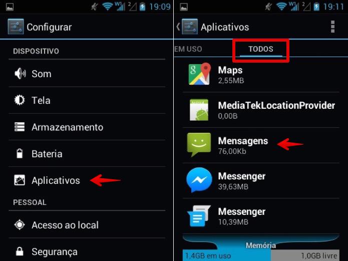 Acesse as configurações do Android (Foto: Reprodução/Helito Bijora)