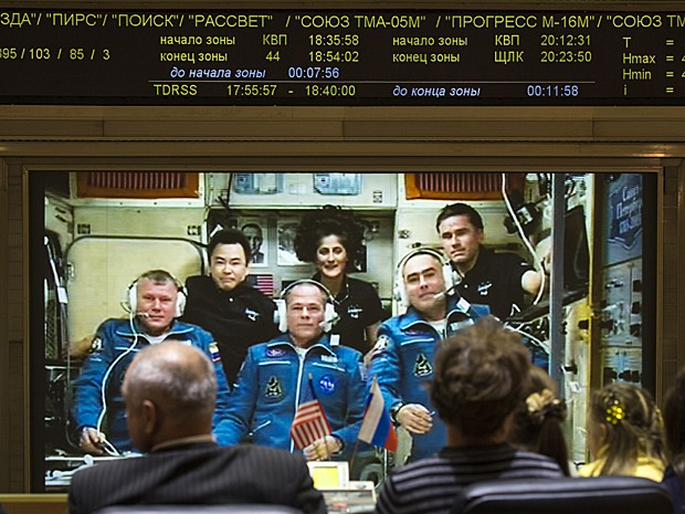 Soyuz (Foto: Nasa/Bill Ingalls/AP)