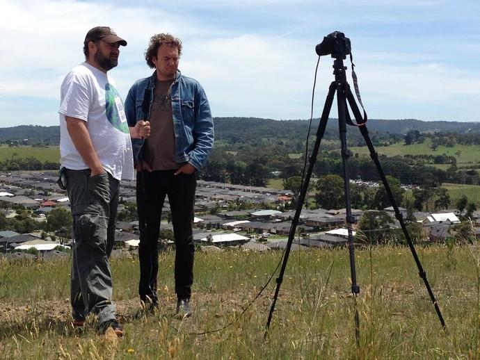 "Kieren ""Beefy"" Blake e Rob Bryers, autores do projeto 365 days of sports (Foto: Divulgação)"
