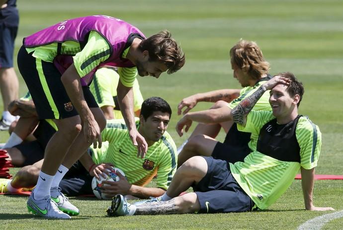 treino Barcelona (Foto: Reuters)