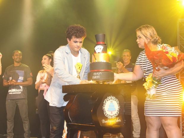 Gabriel Montenegro em espetáculo na Zona Oeste do Rio (Foto: Rogerio Fidalgo/ Ag. News)