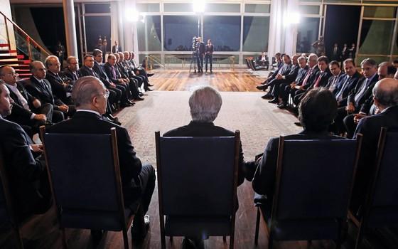 Reunião de governadores com Michel Temer.  (Foto: Beto Barata/ PR)