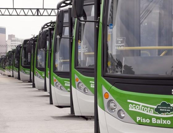 Ônibus da ecofrota de São Paulo (Foto: Prefeitura de SP)