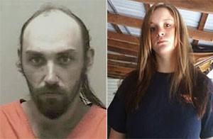 Kelcey Nicholas e Lataura Jarrett foram presos por incesto (Foto: Nicholas County Sheriff's Office e Reprodução/Facebook/Lataura Jarrett)