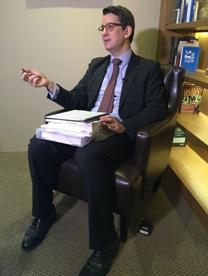 Marcelo Franklin, advogado do caso CBDA (Foto: Fabio Leme)
