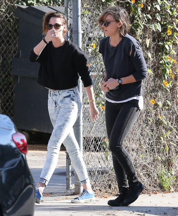 Kristen Stewart e Alicia Cargile  (Foto: Grosby Group/Agencia)