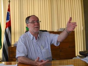 Prefeito de Piracicaba, Barjas Negri (PSDB), em seu gabinete na Prefeitura (Foto: Araripe Castilho/G1)