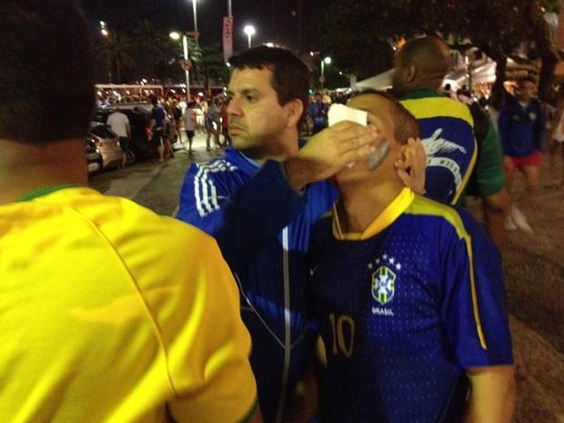 Confusão em Copacabana (Foto: Henrique Coelho/G1)