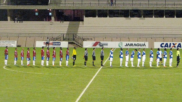Lance do amistoso São Bento 0 x 0 Cuba (Foto: Rafaela Gonçalves/Globoesporte.com)