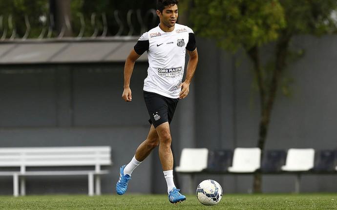 Alan Santos volante Santos (Foto: Ricardo Saibun/ Santos FC)