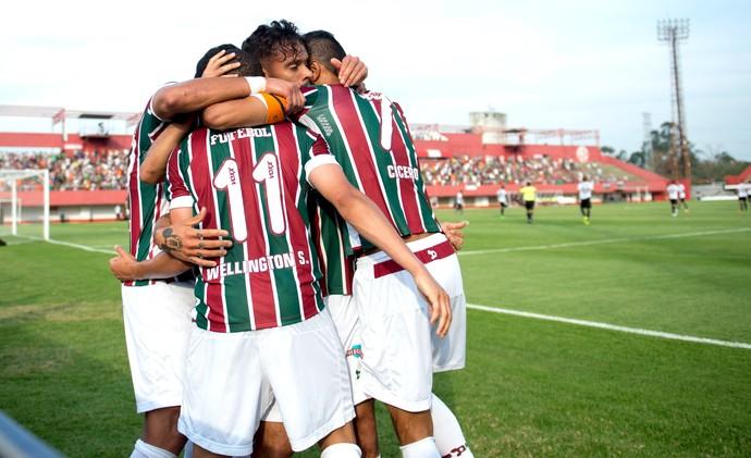 Comemoração Fluminense contra o Figueirense (Foto: Celso Pupo / Estadão Conteúdo )