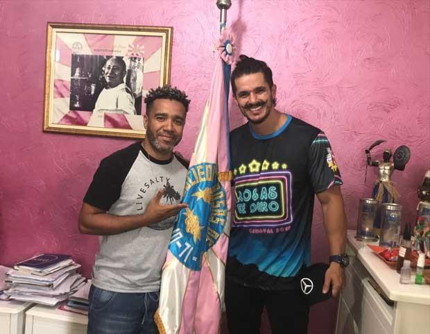 O carnavalesco André Machado e o ator Bruno Lopes (Foto: Divulgação)