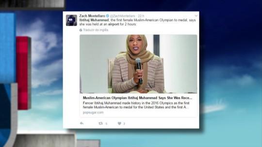 Atleta muçulmana dos EUA diz ter sido detida em aeroporto por duas horas