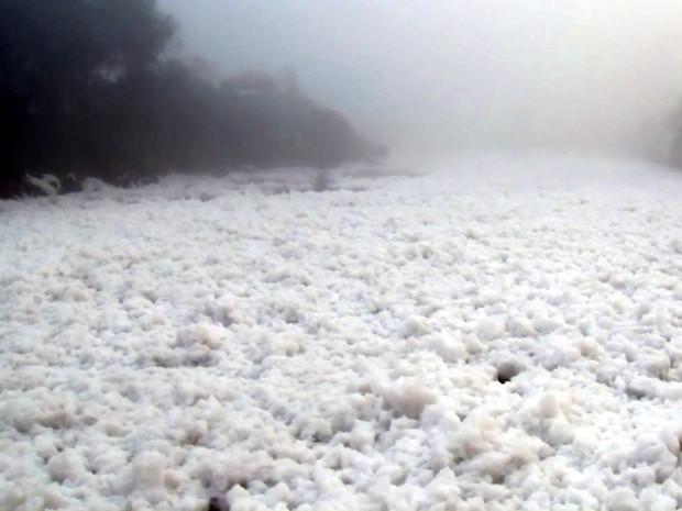 Poluição aumenta e causa transtornos aos moradores em Pirapora do Bom Jesus (Foto: Reprodução/TV TEM)