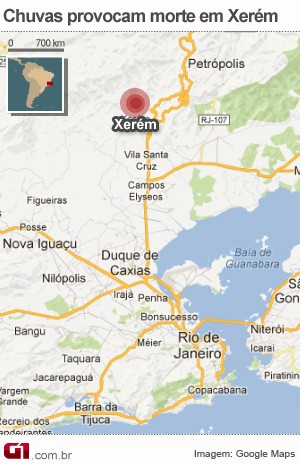 Mapa de Duque de Caxias (Foto: G1)