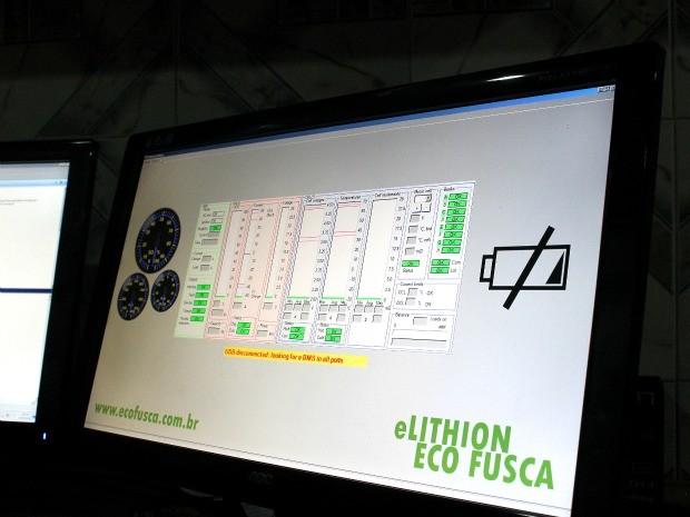 Software monitora desempenho do Eco Fusca (Foto: Divulgação / Acervo pessoal)