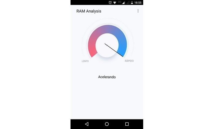 RAM Analysis efetuando aceleração do Android (Foto: Reprodução/Raquel Freire)