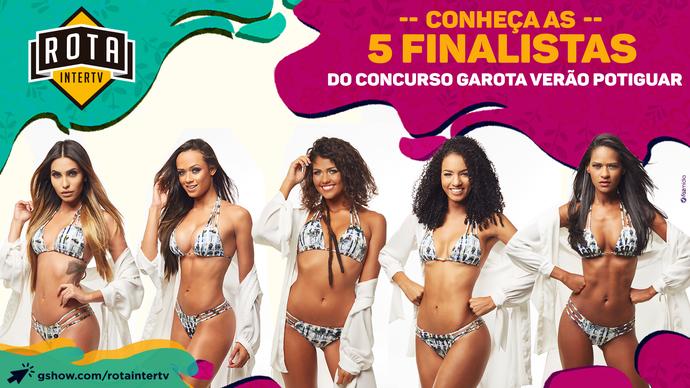 Isabela, Gabriela, Rebeca, Larissa e Geovânia formam o TOP 5 do Garota Verão (Foto: Humberto Lopes)