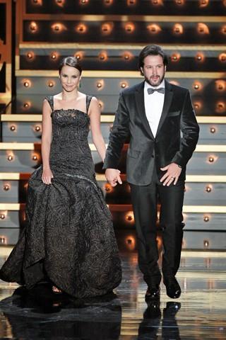 Débora Falabella e Murilo Benício participam, em Lisboa, dos XVIII Globos de Ouro (Foto: Globo)
