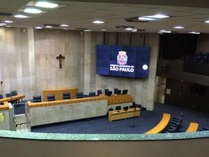 Plenário da Câmara de SP (Foto: Roney Domingos/ G1 )