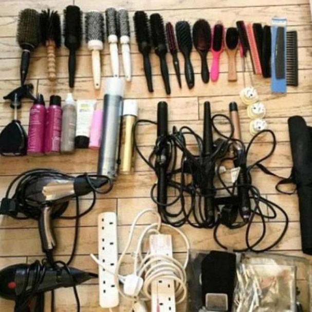 Produtos usados pela hairstylist de Kate Middleton (Foto: Reprodução)