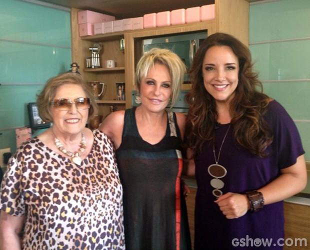 Ana Maria visita Ana Carolina (Foto: Mais Você / TV Globo)