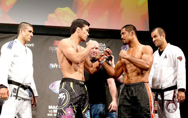 Lyoto Machida e Mark Muñoz pesagem UFC  (Foto: Getty Images)
