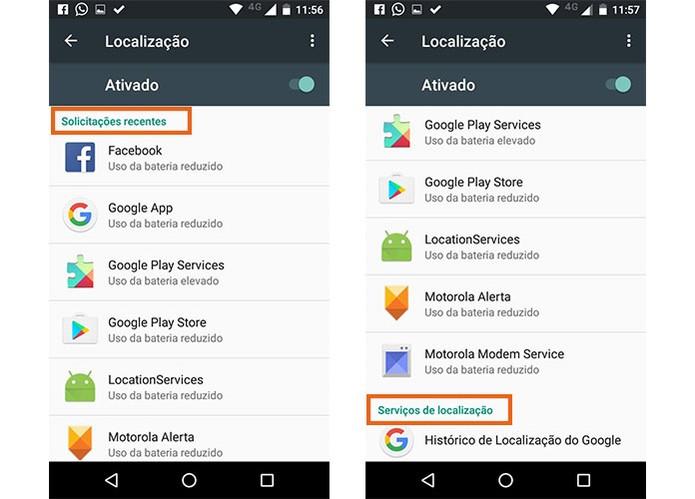 Veja quais aplicativos solicitaram acesso à sua localização GPS recentemente (Foto: Reprodução/Barbara Mannara)