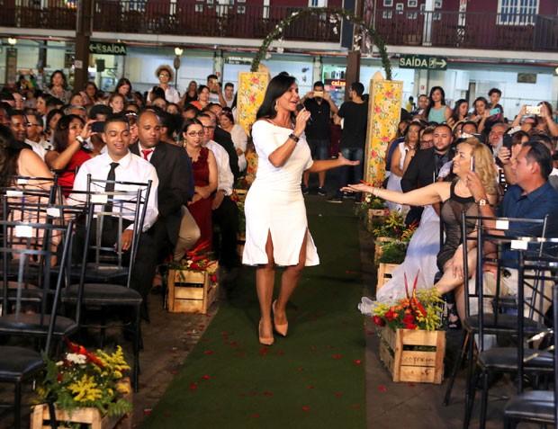 Gretchen na cerimônia (Foto: Reprodução Instagram)