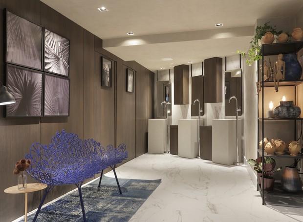 """O projeto do """"Banheiro Contemporâneo"""", de Fabiano Prates Ravaglia, FPR Studio, destaca artesãos e designers nacionais (Foto: Divulgação)"""