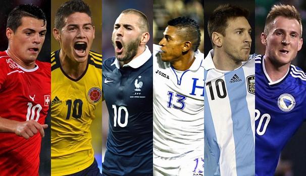 As seleções que se enfrentam no domingo, dia 15 de junho pela Copa do Mundo  (Foto: Divulgação/Reprodução)