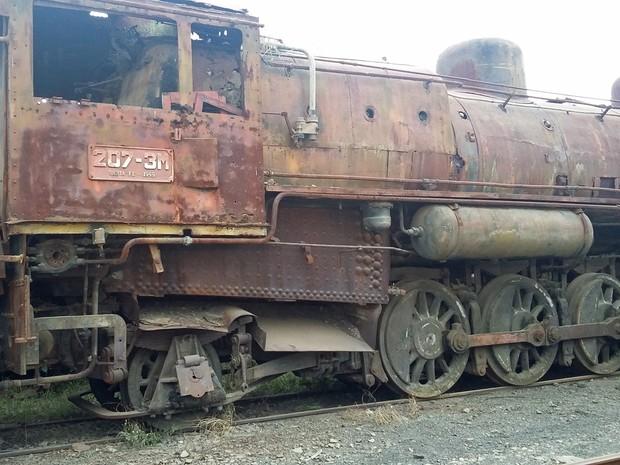 Locomotiva está sendo pleiteada pela Prefeitura de Presidente Epitácio (Foto: Prefeitura de Presidente Epitácio/Cedida)