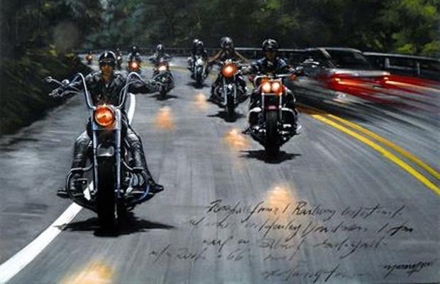 'Olhares de Maramgoní' traz obras sobre o universo das Harley-Davidson (Foto: Divulgação)