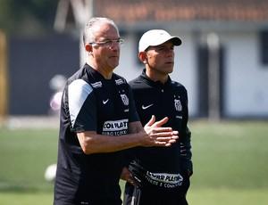 Dorival Júnior e Kleiton Lima (Foto: Ricardo Saibun / Divulgação SantosFC)