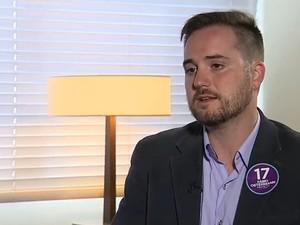 Fábio Ostermann concedeu entrevista ao Jornal do Almoço (Foto: Reprodução/RBS TV)