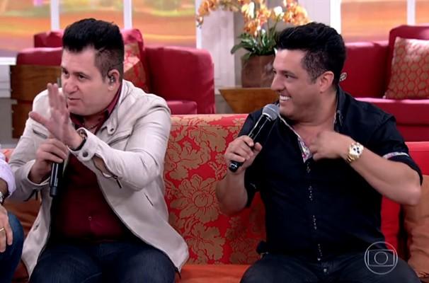 Bruno e Marrone soltaram a voz no Encontro (Foto: Rede Globo/Encontro com Fátima Bernardes)