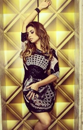 Lexa usa vestido Balmain e bolsa Chanel (Foto: Arquivo Pessoal)