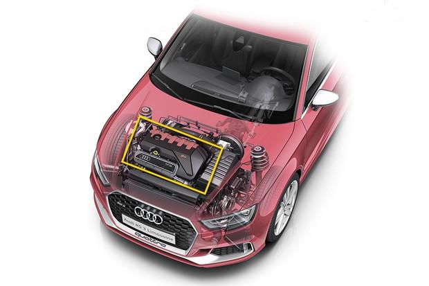 Motor transversal do modelo Audi RS3 (Foto: Audi)
