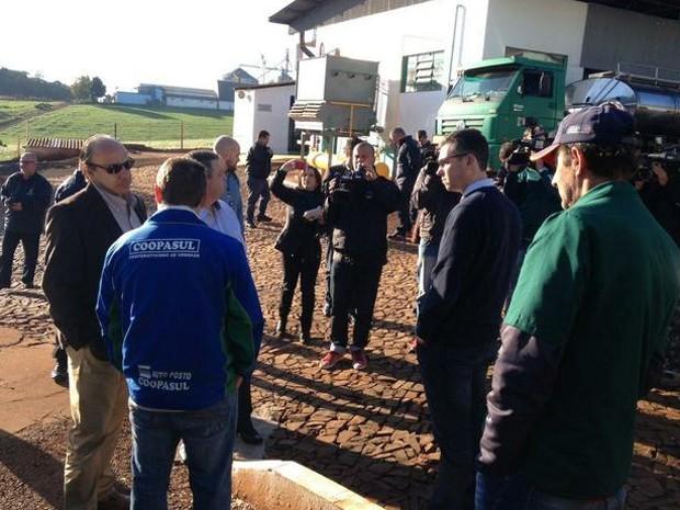 Oitava fase de operação contra fraude no leite foi deflagrada na manhã desta quarta (Foto: Marjuliê Martini/MP)