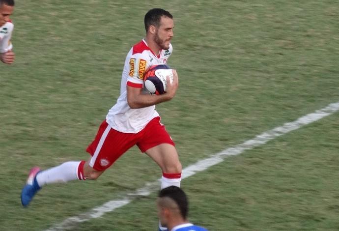 Pedro Castro, gol, URT, Tombense (Foto: Bruno Ribeiro)