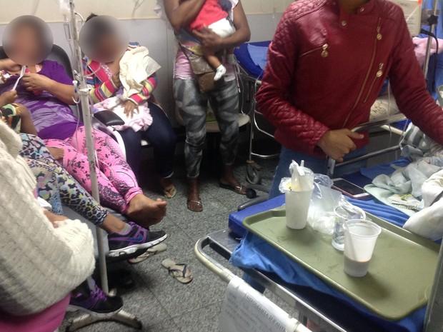 No setor de nebulização, crianças aguardam com os pais uma vaga para internação (Foto: Divulgação/ Cremerj)