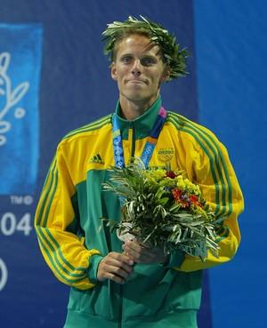 Roland Schoeman Olimpíadas Atenas 2004 África do Sul natação (Foto: Al Bello / Getty Images)
