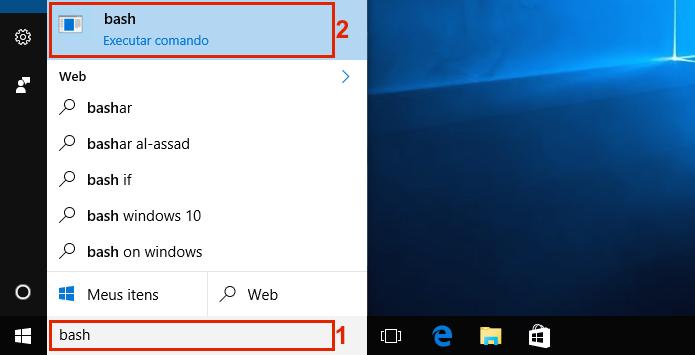 Executando o Bash no Windows 10 (Foto: Reprodução/Edivaldo Brito)