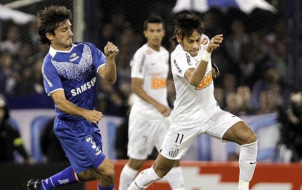 Neymar, Velez x Santos (Foto: Agência EFE)