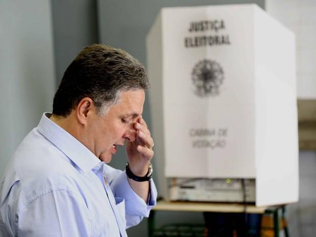 Garotinho vota em Campos (Foto: Leonardo Berenger / Agência Berenger)