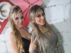 Clara e Vanessa participam de festa em escola de samba
