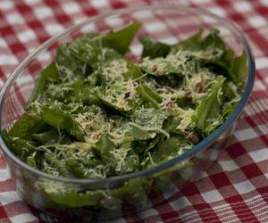 Salada de radicchio com bacon